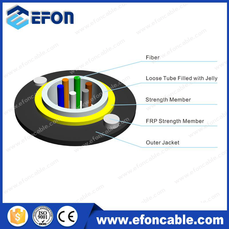 Cheap Price 12Core Single Mode Fibre 9/125um Aerail Drop Cable