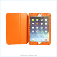 orange Soft and close fitting book case for ipad mini2