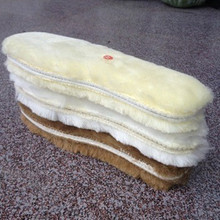 Warm wool fur insoles winter thick insole