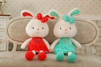Baby toy birthday gifts stuffed coloful rabbit plush bunny toy cute beautiful rabbit easter bunny soft toys