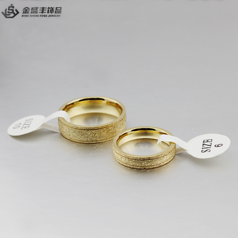 IP Gold Jewelry Fashion Stainless Steel Cheap Sample Wedding Ring