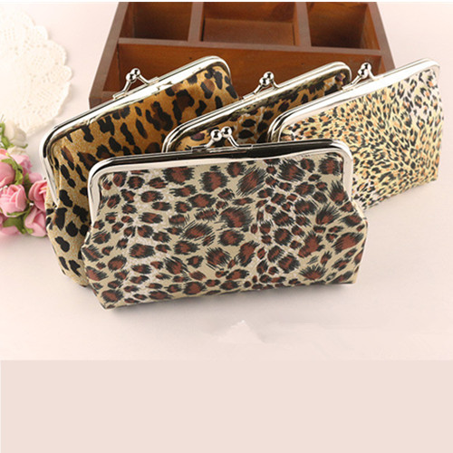 Wallet lady wallet Leopard grain purse ladies wallets and purses