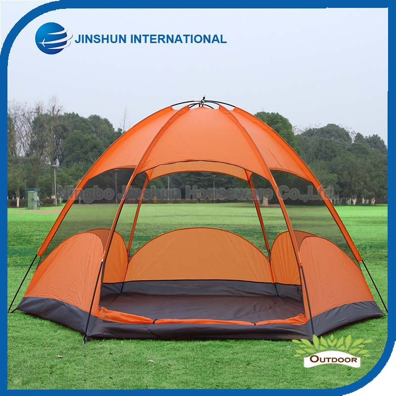5 Persons Double Skin Sexangle camping Tent folding picnic tent