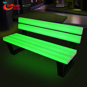 glowing led bar table and benches outdoor usage