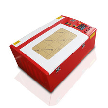 Fabric mini laser engraving machine engrave plastic and breast cards HT-K40E RD control <strong>system</strong> 40W engraving/cutting