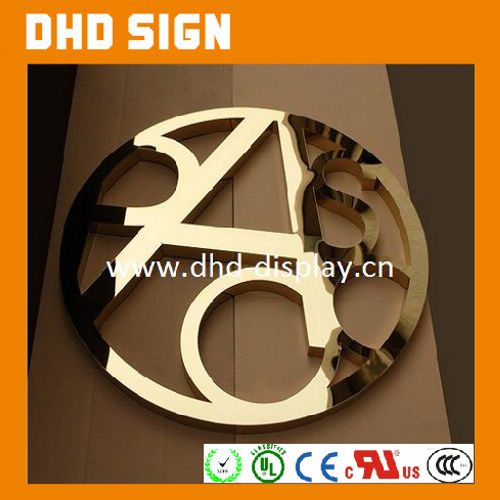 2016 new design golden acrylic hotel room door number letter sign