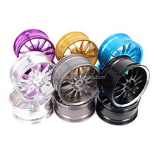 2pcs Machined Aluminum 12 Spoke Wheel Rim w/o Tire For Rc 1/10 On-Road Racing Car Crawler Upgraded Hop-Up Parts