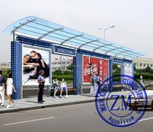 outdoor motorcycle shelter / bus shelter advertising /bus stop shelter
