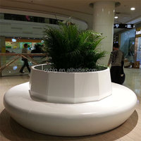 fibreglass pots and planters with seating for Shopping Mall/large fibreglass public seater for interior