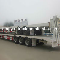 3 Axles Gooseneck Low Bed Container
