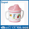 red melamine cup with lid for children