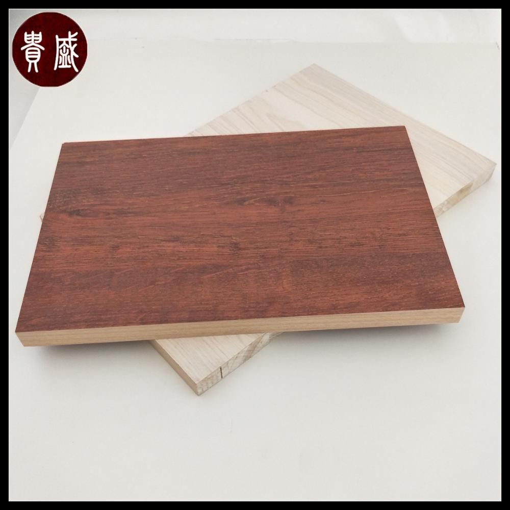 Melamine Laminated Chinese Fir Solid Wood Ecological Board