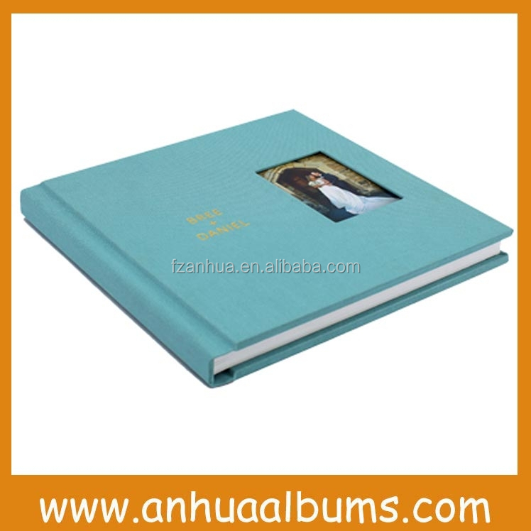 DIY Linen fabric cover photo album For Professional Photographer