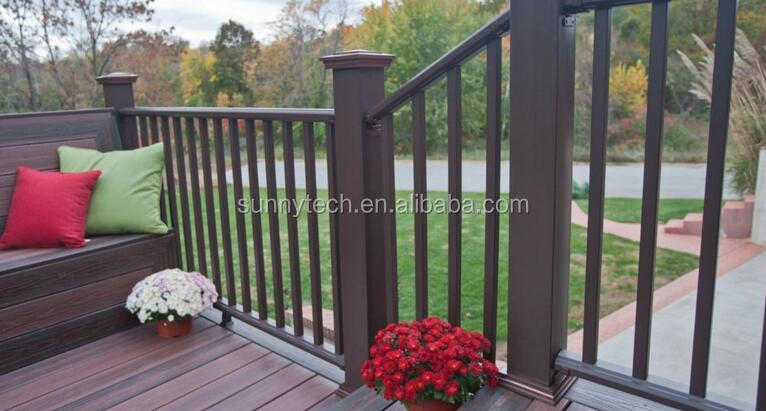Factory price new design outdoor anti-uv wpc wooden garden fence