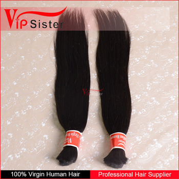 natural straight 1b color for braiding hair full cuticle 7a 10-30 inch indian virgin hair bulk
