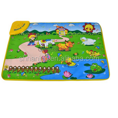 New design musical piano baby care sleeping mat toy baby play mat 2016