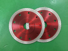 hot pressed 4''105mm super thin diamond turbo saw blade for granite marble tile cutting