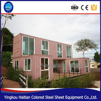 China low cost 20 40 feet prefab container house steel luxury prefabricated homes complete usa
