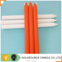 paraffin wax fluted velas white candles hot sale in China factory