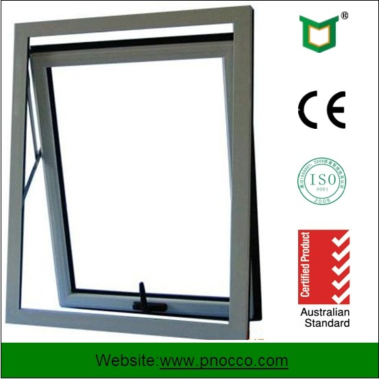 High quality low price Aluminum awning window and door| non Thermal break hollow glass awning Windows with fly PNOC0302THW