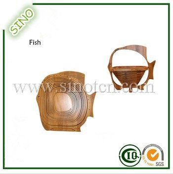 Fish Shape Bamboo Hanging Fruit Basket