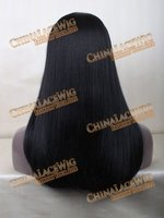 Breathable straight texture long synthetic wig