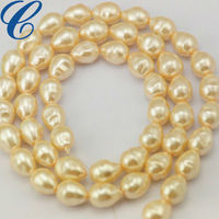 Vintage Large Baroque Glass Pearl Beads