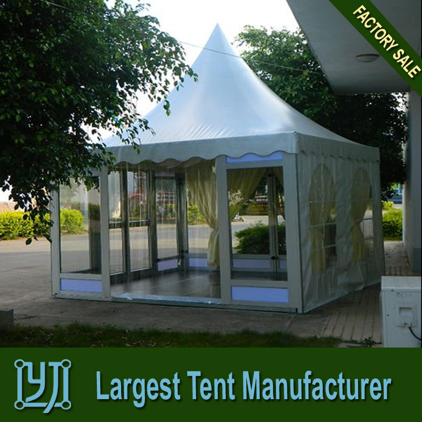 cheapest glass wedding party pagoda marquee tent ,high peak canopy tent