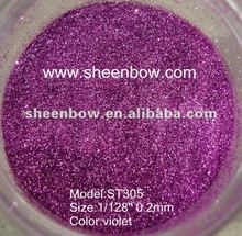 ST305 violet glitter pigment powder used for nail gel paste