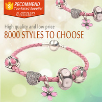 men bracelet factory bracelet fit pandora nickel lead free bangle cuff hearts leather bracelet