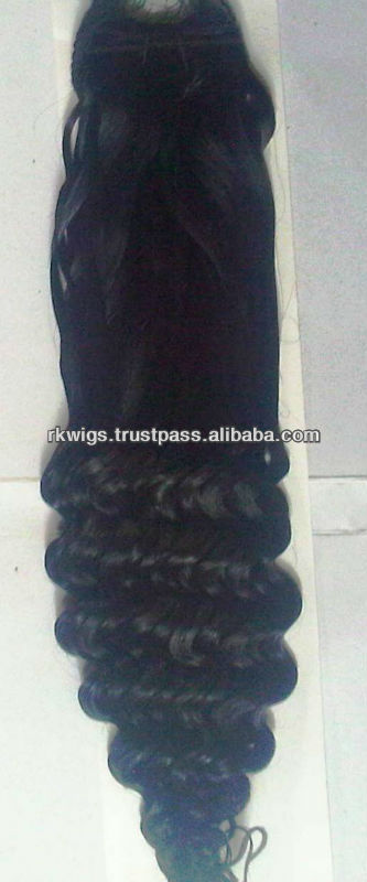 100% Indian Human Hair MACHINE MADE WEFT - BOTTOM CURLS