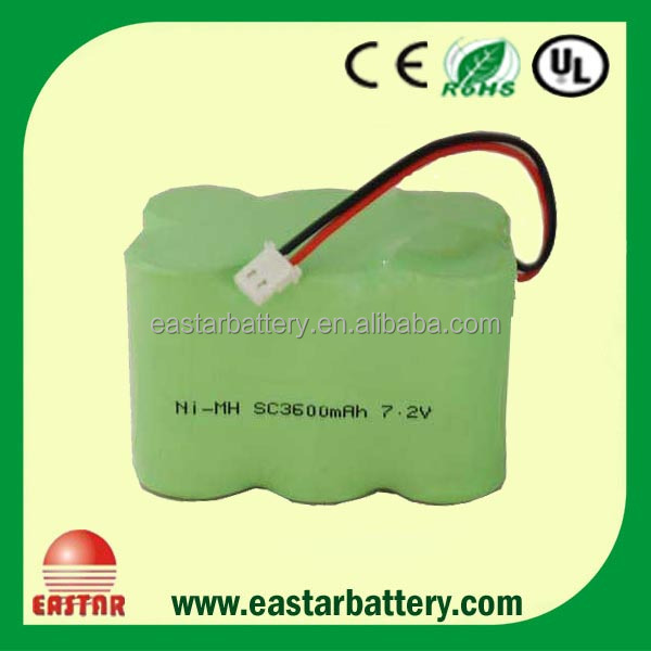 Ni-MH SC 3600mAh 7.2v Rechargeable battery pack Electric Tool Battery