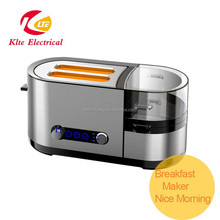 Toaster and Egg Maker Fry Sausage Frying Pan Steamer