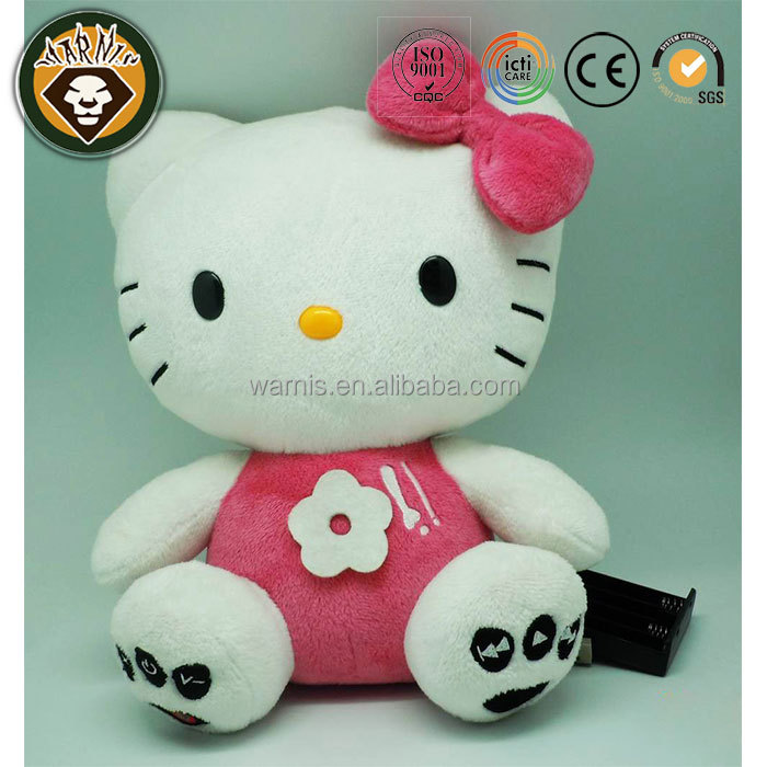 Plush Hello Kitty Toy Singing MP3 Player Doll Speaker Pillow