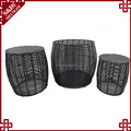 S&D Good Quality Customized plastic woven sitting stool set/3