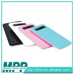 Promotionalcustomized power bank/Touch screen slim phone charge