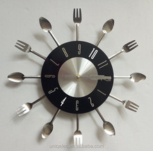 large tableware shape kitchen wall clock