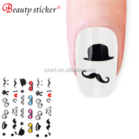 Cap monkey and duck graphic pattern 3D decal nail sticker