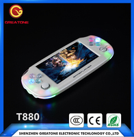 mini pocket video game console for PS1 N64 128bit 3D acrade games pvp mp5 game player t880