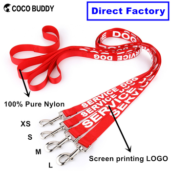 SERVICE DOG Leash Retractable Silkprinted Nylon Dog Lead Dog Products