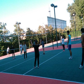 good performance cushioned polypropylene outdoor Volleyball court surface flooring