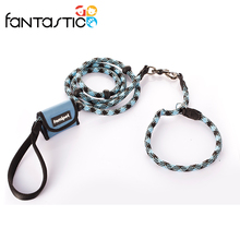 Training products Reflective silk dog leash and collar