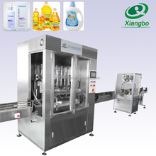 High Quality Shower Gel Filling Production Line Auto 4 Filling Heads Shampoo Filling And Capping Machine