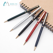 Marbling MT121B Advertising Custom Logo Slim Metal Twist Ball Pen For Hotel