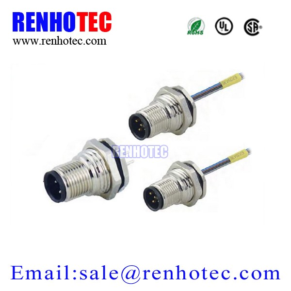 Types of Electrical Joints 4 Pin 5 Pin Waterproof M12 Cable Connector