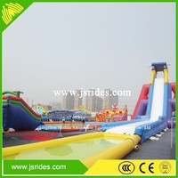 inflatable waterslide used in sea,inflatable floating slide