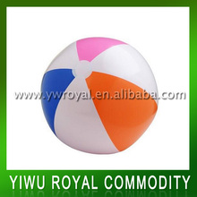 Colorful Beach Toy Plastic Inflatable Beach Ball Girls