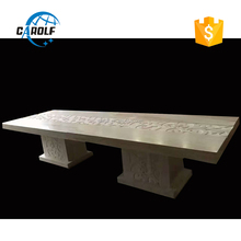 12 seater stone marble dining table with hand carved
