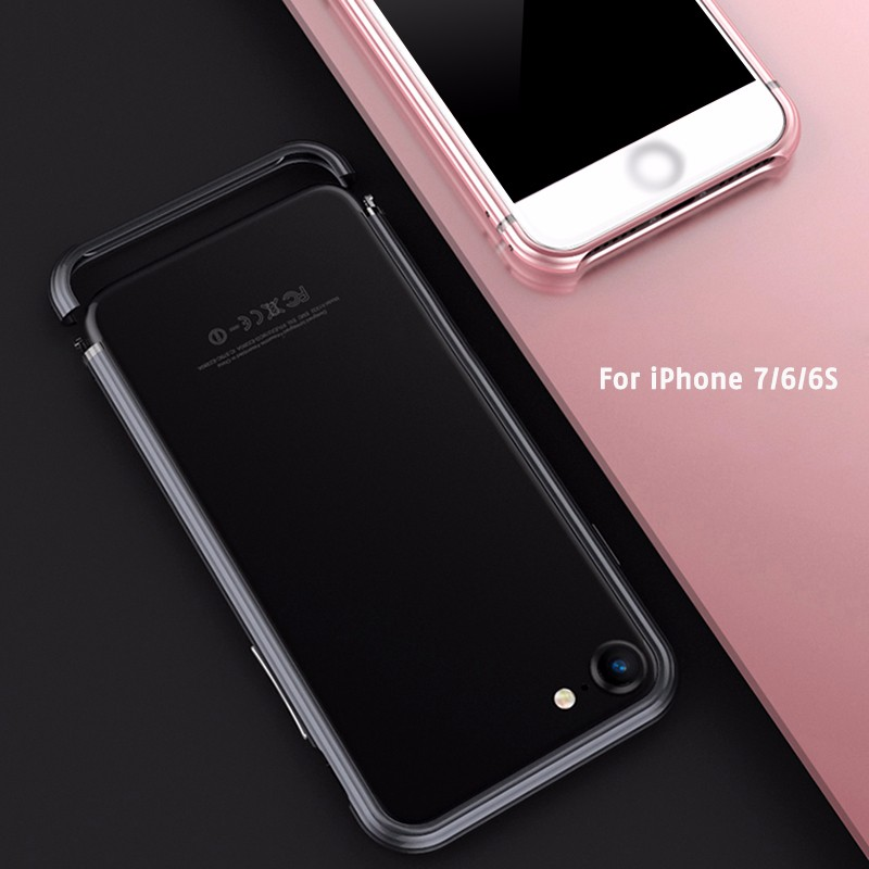High quality universal bumper aluminum slim mobile case thin for IPhone 7 6s 6