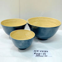 Bamboo kitchenware, set of 3 / Coiled bamboo bowls Vietnam (HTC 1838/3)